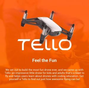 DJI:n valmistama superhalpa Ryze Tello –drone vuoti julkisuuteen