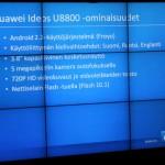 Huawei U8800 ominaisuudet