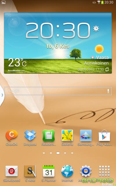 Samsung Galaxy Note 8 perustila