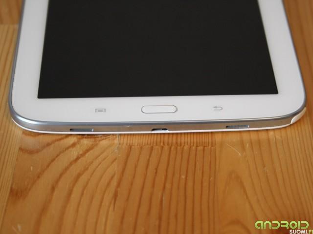 Samsung Galaxy Note 8:n alareuna