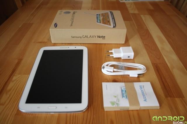 Samsung Galaxy Note 8:n pakkaus