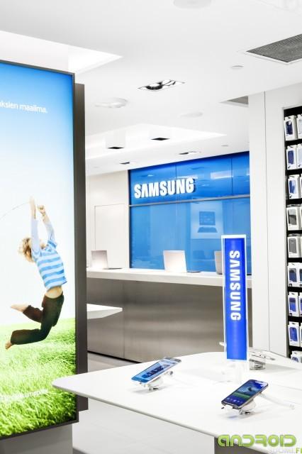 Samsungin myymälä Makkaratalo 30.7.2013