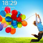 Galaxy S4 Mini lukitusruutu