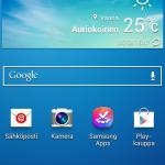 Galaxy S4 Mini aloitusruutu