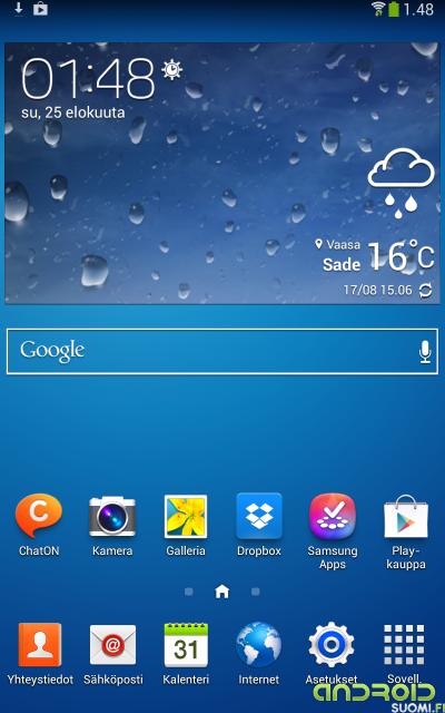 """Galaxy Tab 3 8"""" kotinäyttö"""
