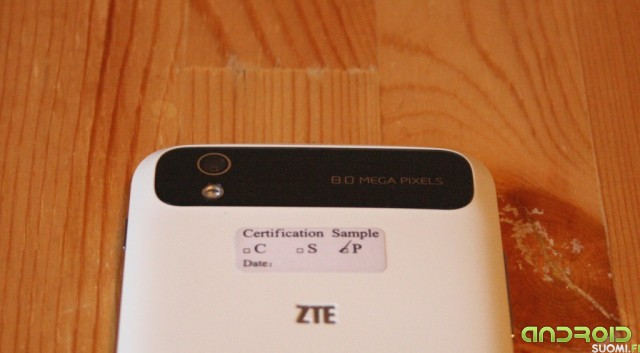 ZTE Grand S Flex takakamera